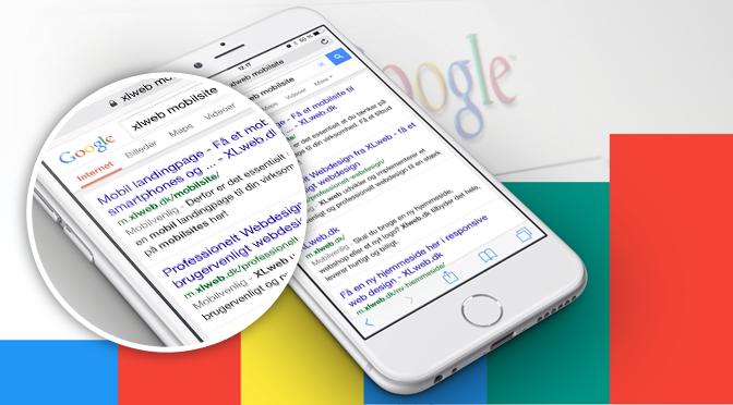 XLweb mobilvenlige hjemmesider
